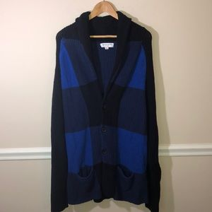 Adam Lippes for Target Blue Checkered Cardigan XL